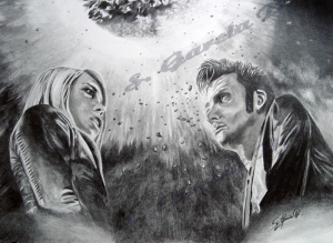 Portrait von David Tennant und Billie Piper